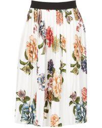 Dorothy Perkins - Tenki White Floral Midi Skirt - Lyst
