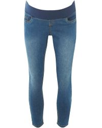 Dorothy Perkins - Maternity Mid Wash Cropped Jeans - Lyst