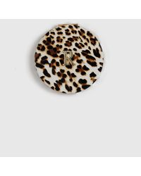 Dorothy Perkins Multi Colour Leopard Print Initial 'r' Compact Mirror - Brown