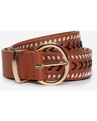 Dorothy Perkins Tan Whipstitch Belt - Brown