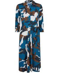 Dorothy Perkins Tall Blue Camouflage Print Shirt Dress