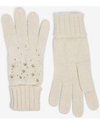 Dorothy Perkins Cream Pearl Embellished Gloves - Natural
