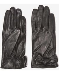 Dorothy Perkins - Black Leather Knot Gloves - Lyst