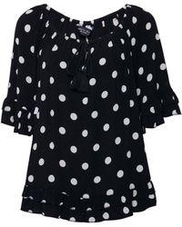 Dorothy Perkins Black Spot Print Top, Black