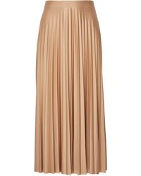Dorothy Perkins Camel Jersey Pleat Midi Skirt, Camel - Natural