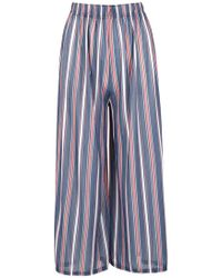 Dorothy Perkins Navy Wide Leg Pants, Navy - Blue