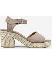 bf2697f8029 Taupe 'rollo' Espadrille Wedges - Brown