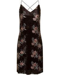 Girls On Film Girls On Film Black Floral Mini Slip Dress, Black