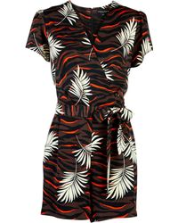e685676749d Dorothy Perkins Multi Colour Tiger Print Playsuit in Brown - Save 7 ...