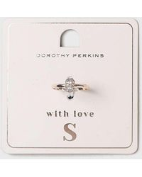 Dorothy Perkins - Initial S Ring - Lyst