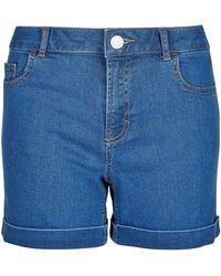 Dorothy Perkins Mid Wash Denim Shorts - Blue