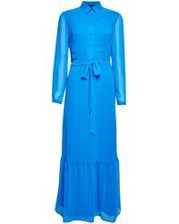 Dorothy Perkins - Cobalt Chiffon Shirt Maxi Dress - Lyst