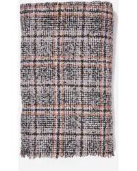 Dorothy Perkins - Multi Colour Check Print Boucle Scarf, Multi Colour - Lyst