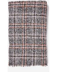Dorothy Perkins - Multi Colour Check Print Boucle Scarf, Multi Colour - Lyst