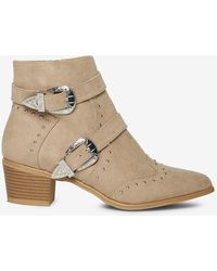 Dorothy Perkins - Mink 'alicia' Ankle Boots - Lyst