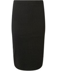 Dorothy Perkins - Black Spotted Pencil Skirt - Lyst