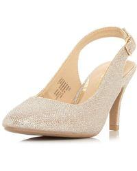 a571d6fa142 Head Over Heels By Dune 'carrla' Ladies Mid Heel Shoes - Metallic