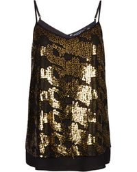 Dorothy Perkins Gold Sequin Camisole Top, Gold - Metallic