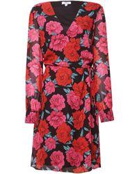 Dorothy Perkins Dp Tall Pink Floral Print Wrap Dress