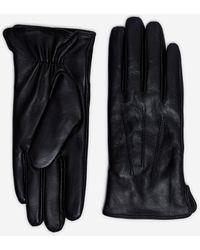 Dorothy Perkins Black Leather Stitch Gloves, Black