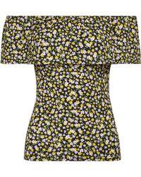 Dorothy Perkins - Multi Coloured Ditsy Print Bardot Top - Lyst