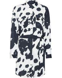 ONLY White Cow Print Shirt Dress
