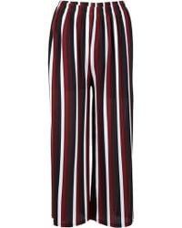 Dorothy Perkins Izabel London Wine Striped Palazzo Pants, Wine - Multicolor