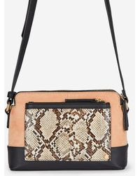 Dorothy Perkins Stone Snake Print Multi Compartment Cross Body Bag - Multicolor