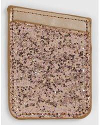 Dorothy Perkins Brown Glitter Phone Card Holder - Black