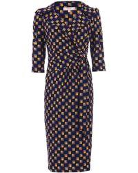 Dorothy Perkins Jolie Moi Black V-neck Revere Collar Bodycon Dress, Black