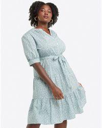 Draper James Loretta Shirt Dress In Fall Vines - Blue