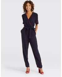 058ed1a3fa4 Draper James - Self Tie Jumpsuit - Lyst