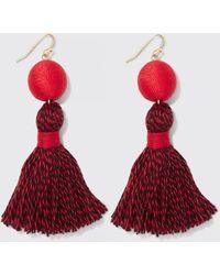 Draper James Spirit Tassel Earrings - Red