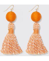 Draper James Spirit Tassel Earrings - Orange