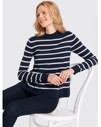 Draper James - Stripe Boxy Turtleneck Sweater - Lyst