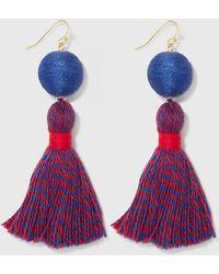Draper James Spirit Tassel Earrings - Multicolor