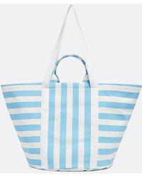 Draper James Canvas Beach Bag - Blue