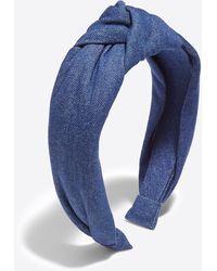 Draper James Knot Headband In Chambray - Blue