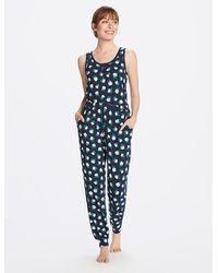 Draper James Hillary Pajama Set In Magnolia - Blue