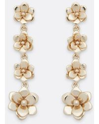 Draper James Tiered Magnolia Drop Earring - Metallic