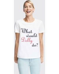 8e66a01aa3 Draper James - What Would Dolly Do Tee - Lyst