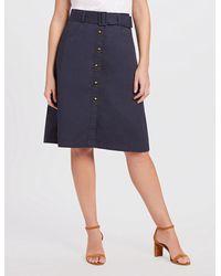 Draper James A-line Chino Skirt - Blue
