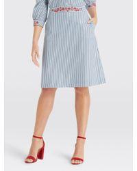 Draper James Embroidered Skirt - Blue