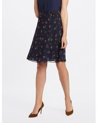 Draper James - Floral Swiss Dot A-line Skirt* - Lyst