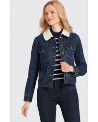 Draper James - Denim Sherpa Jacket - Lyst