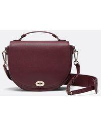 Draper James Leather Round Saddle Bag - Purple