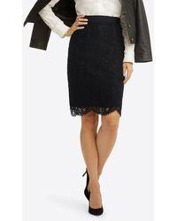 Draper James Pencil Skirt In Lace - Black