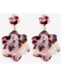 Draper James Double Magnolia Drop Earring - Multicolor