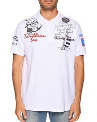 Rusty Neal Poloshirt Slim Fit - Weiß