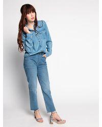 Superdry - Bluse in blau für Damen, Größe: XL - Lyst